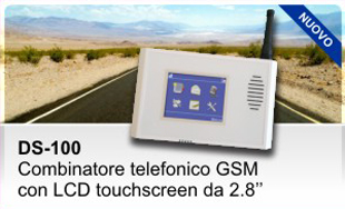 DS-100 - Combinatore telefonico GSM con LCD touch screen